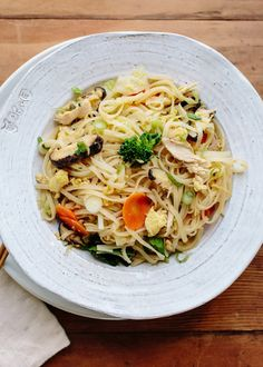 Recipe: Stir-Fried Noodles with Chicken & Vegetables