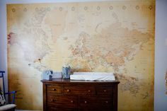 Project Nursery - Map Mural Wall in this Explorer Nursery