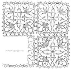 Crochet Art: motif. I am in love with motifs! You can make so many things out of a motif