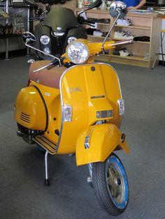 Yellow Stella Scooter.