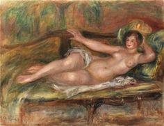 Pierre-Auguste Renoir: Femme allongée, 1915