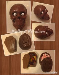 how to make a skull cake without a molds