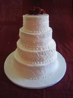 Sophisticated Buttercream Wedding Cakes #817 | Super Wedding