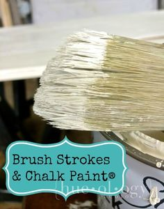 reducing brushing strokes with chalk paint