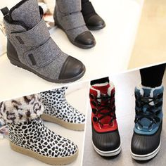 Gmarket - [기타] Ankle UGG boots / toe cap / Velcro / leopard / ...