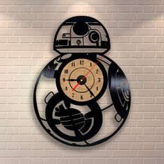 Hey, I found this really awesome Etsy listing at https://www.etsy.com/listing/261480389/bb-8-star-wars-vinyl-wall-record-clock