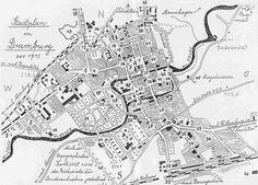 Stadtplan von Dramburg vor 1945