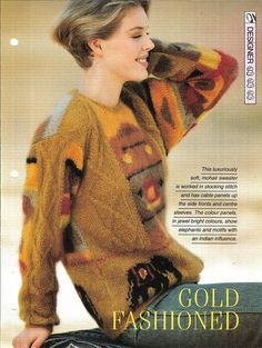 Knitting pattern  Woman's top Gold by MyPatternsCollection on Etsy