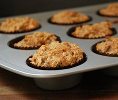 Paleo carrot muffins (no sweetener) came out deliciously, but needed to be cooked about 30-35 mins!