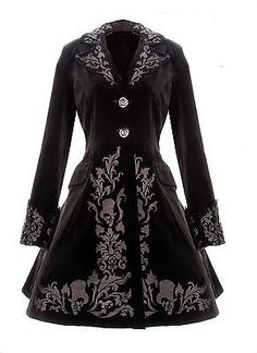 Victorian Black Velvet Coat Gothic Spin Doctor Vintage Gothic Steampunk 2014 New | eBay