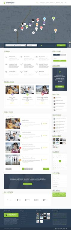 DirectoryS - Listing WordPress Theme More themes: http://ibrandstudio.com/inspiration/best-wordpress-themes-directory-listings