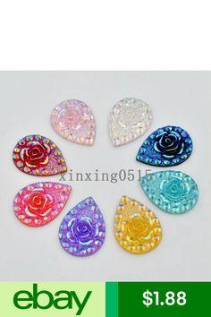 Craft Flatback & Button Embellishments Crafts Beaded Earrings, Beaded Jewelry, Beadwork Designs, Rhinestone Wedding, Flower Shape, Rose Wedding, Embellishments, Resin, Shapes