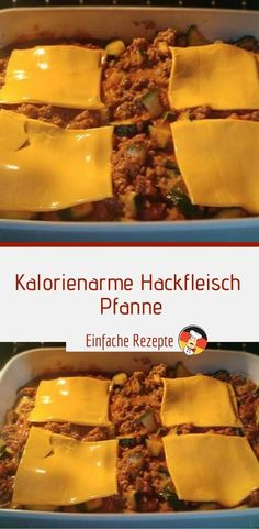 Kalorienarme Hackfleisch Pfanne – Einfache Rezepte One Pot Pasta, Sauerkraut, Low Carb, Food And Drink, Snacks, Breakfast, Recipes, Fondue, Drinks
