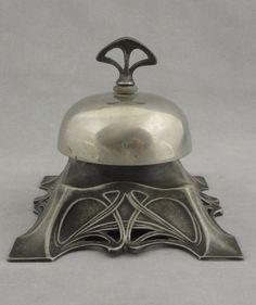 Antique WMF Germany Art Nouveau Silver plate Mechanical Desk Bell c. Belle Epoque, Architecture Art Nouveau, Design Art Nouveau, Jugendstil Design, Art Nouveau Furniture, Art Antique, Antique China, Arts And Crafts Movement, Love Art