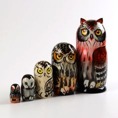 The Wise Owl Nesting Doll | Nesting Dolls on Sale | The Russian Store