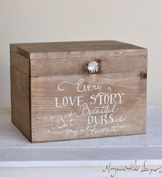 Wedding Card Box Rustic County Barn Hand Painted Keepsake Box (item Number…