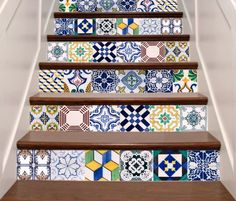 Tile Stickers - Tile Decals - Tile decals for Kitchen or Bathroom -Tile Decals for Stair - Mexico, Morocco, Portugal, Spain, Mosaic by DecoSkinsPL on Etsy https://www.etsy.com/listing/230374570/tile-stickers-tile-decals-tile-decals