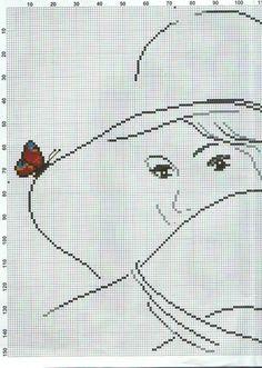 #2 of 3 Butterfly on hat brim facing left Gallery.ru / Photo # 15 - circuit - irisha-ira