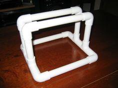 Individual PVC bike rack.