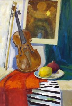Violin, Icon and Fruits