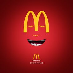 Creative Typography, Ads Creative, Creative Advertising, Advertising Design, Mcdonalds, World Smile Day, Satirical Illustrations, In Memory Of Dad, Best Ads
