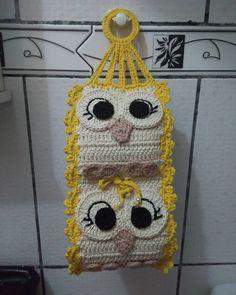 Learn How To Do, Inspirations Crochet Applique Patterns Free, Crochet Flower Patterns, Crochet Designs, Crochet Flowers, Crochet Owls, Crochet Cushions, Crochet Home, Wc Set, Crochet Rings