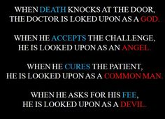 When the doctor asks for his fees, he becomes the devil http://kaysfittings0211.blogspot.com/2015/04/p-is-for.html #bills #atozchallenge #medicaldrama #health #dailyexperiences