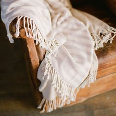 Santorini Striped Bamboo Throw, $160 perfect throw for outside guests
