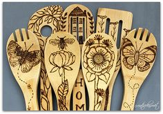 wood burning bamboo spoons | Regina Lord | Flickr