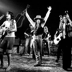 Joan Baez and Bob Dylan during the Rolling Thunder Revue in 1975