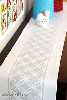 Try with baby blue fabric and chocolate paint for tables....