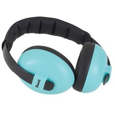 Keep your baby's ears protected from loud noises with these lightweight and comfy turquoise baby ear defenders. Perfect for fireworks displays, concerts, festivals and more.