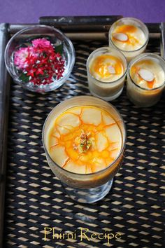 Phirni is a traditional festive Indian sweet made with rice flour, sugar and milk mainly.