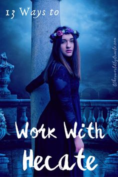 Hecate, the Greek Goddess of witchcraft, is ancient and powerful. Many witches are called to work with her. Here's 11 magical ways to work with Hecate. Hecate Goddess, Moon Goddess, Wiccan Spells, Wiccan Art, Wiccan Magic, Magick Book, Witchcraft Books, Healing Spells, Wiccan Crafts