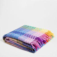 Checked Woollen Blanket - Blankets - Bedroom | Zara Home Spain
