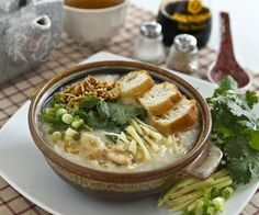 "Fish congee : Prev pinner said ""Now this is a pure tasty comfort in a bowl!"""
