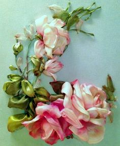 Wonderful Ribbon Embroidery Flowers by Hand Ideas. Enchanting Ribbon Embroidery Flowers by Hand Ideas. Learn Embroidery, Rose Embroidery, Embroidery For Beginners, Embroidery Kits, Embroidery Stitches, Embroidery Supplies, Embroidery Materials, Embroidery Techniques, Embroidery Saree