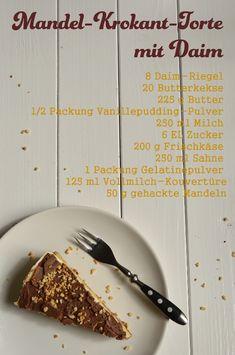 Rezept für Mandel-Krokant-Torte mit Daim (Ikea-Style) auf www.rheintopf.com
