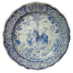❤ - 18th Century Faience Plate from Nevers, France
