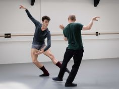 Hugo Marchand and William Forsythe rehearsing 'Blake works', Paris Opera Ballet