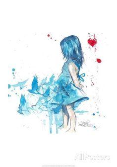 Blue Girl - Lora Zombie