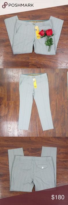 Tory Burch Emett Pants Crop Capri Storm Blue Sz 8 These beautiful pants are new with tags! There is a light patchouli smell to these pants. As always offers and bundles are welcome. Feel free to add one or more items to a bundle for a private discount offer!!!  Waist is 16.4 inches across Hips are 18.25 inches across Rise is 9.25 inches  Inseam is 24.75 inches Tory Burch Jeans Ankle & Cropped