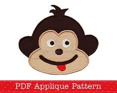 Hey, diesen tollen Etsy-Artikel fand ich bei https://www.etsy.com/de/listing/61638696/cheeky-monkey-applique-template-animal