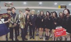 finally Bangtwice So close.  Our black swan (mina) come in interview and she so close with jimin omg.  i dunno why jungkook quite on back/? . are u ok jungkooka?  twice sana sing a part of jhope manhi manhi   tzuyu sing a chourus Nae pi ttam nunmul  and then our chae sing fire and all of twice sing too  meanwhile Bts jin sing im like TT ahjimin lart of dahyun neomuhae neomuhae omg so cute . rapmostervjiminjin doing shyshyshy . jungkook didn't nothing . i know u're so shy in front tzuyu…