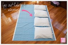 Diy Pillow Lounger With Waverly Fabric -- Free pattern!