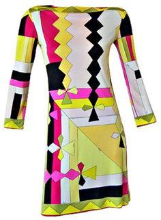 650072b7920bb Dress, Emilio Pucci, 1960s Sixties Fashion, Mod Fashion, Vintage Fashion,  Italian