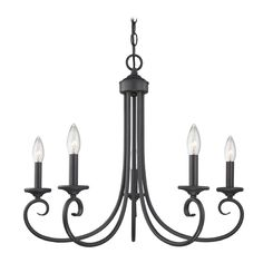 Design Classics Lighting Traditional Bronze Forge Candlestick Chandelier with Five Lights | 715-78 | Destination Lighting 99.95