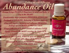 Young Living Abundance Essential Oil  Contact me for more info. Purelivingoil@gmail.com  Order at  Www.youngliving.com #1492362