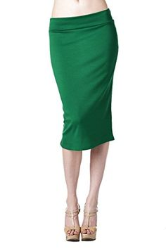 Women'S Ponte Roma From Office Wear to Casual Below Knee Pencil Skirt - Dark Green S 82 Days http://www.amazon.com/dp/B00KC6RNKM/ref=cm_sw_r_pi_dp_xakrub06E6G51