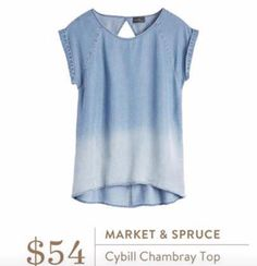 Market and SpruceCybill Chambray Top. I love Stitch Fix! A personalized styling service and it's amazing!! Simply fill out a style profile with sizing and preferences. Then your very own stylist selects 5 pieces to send to you to try out at home. Keep what you love and return what you don't. Only a $20 fee which is also applied to anything you keep. Plus, if you keep all 5 pieces you get 25% off! Free shipping both ways. Schedule your first fix using the link below! #stitchfix @stitchfix…